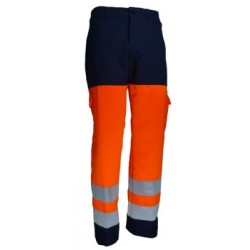 PANTALON HV ORANGE/MARINE 01HVO580