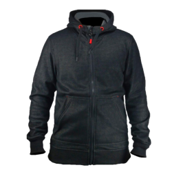SWEAT A CAPUCHE TYPHON NOIR ZIP INTEGRAL