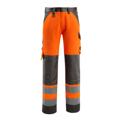 Pantalon HV MAITLAND avec poches genouillères orange/marine foncé