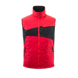 Gilet grand froid rouge/noir