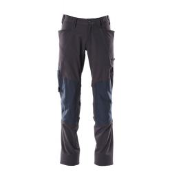 Pantalon avec poches genouillères marine