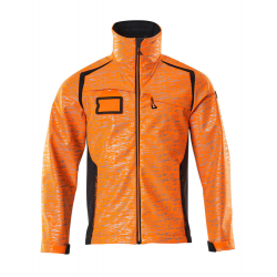 Veste softshell orange/marine foncé