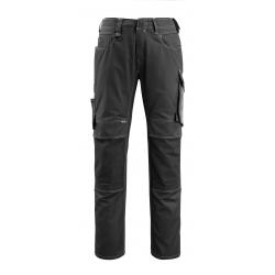 Pantalon MANNHEIM avec poches genouillères noir