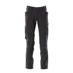 Pantalon avec poches genouillères noir